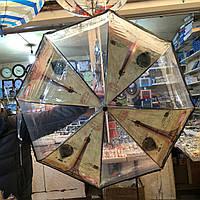 Прозрачный женский зонт-трость Париж 2