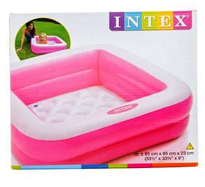 Бассейн надувной INTEX 57100 квадратный с надувным дном, фото 2
