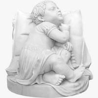 Скульптура спящего ребёнка С - 14