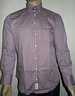 Мужская рубашка в бордовую клетку, фото 1