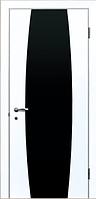 Двери ИДЕАЛ Белая Эмаль Черный триплекс