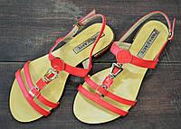 Красные женские летние босоножки Prima D'Arte