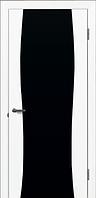 Двери ГРАЦИЯ Белая эмаль Черный триплекс