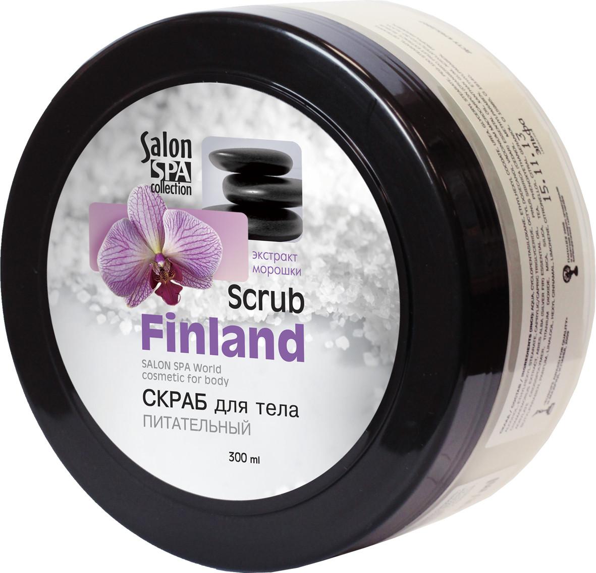 """Сахарный скраб для тела питательный """"Finland"""" от ТМ """"Salon Professional"""", 300 мл."""