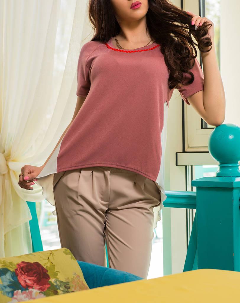 """Оригинальная женская блузка """"Империал фрез"""" до 52 размера"""