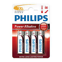 Батарейка Philips Power Alkaline LR6 АА (блистер, 4/48/864), фото 1