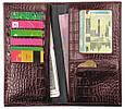 Мужское портмоне на каждый день, кожаное ISSA HARA WB20 (22-00), фото 2