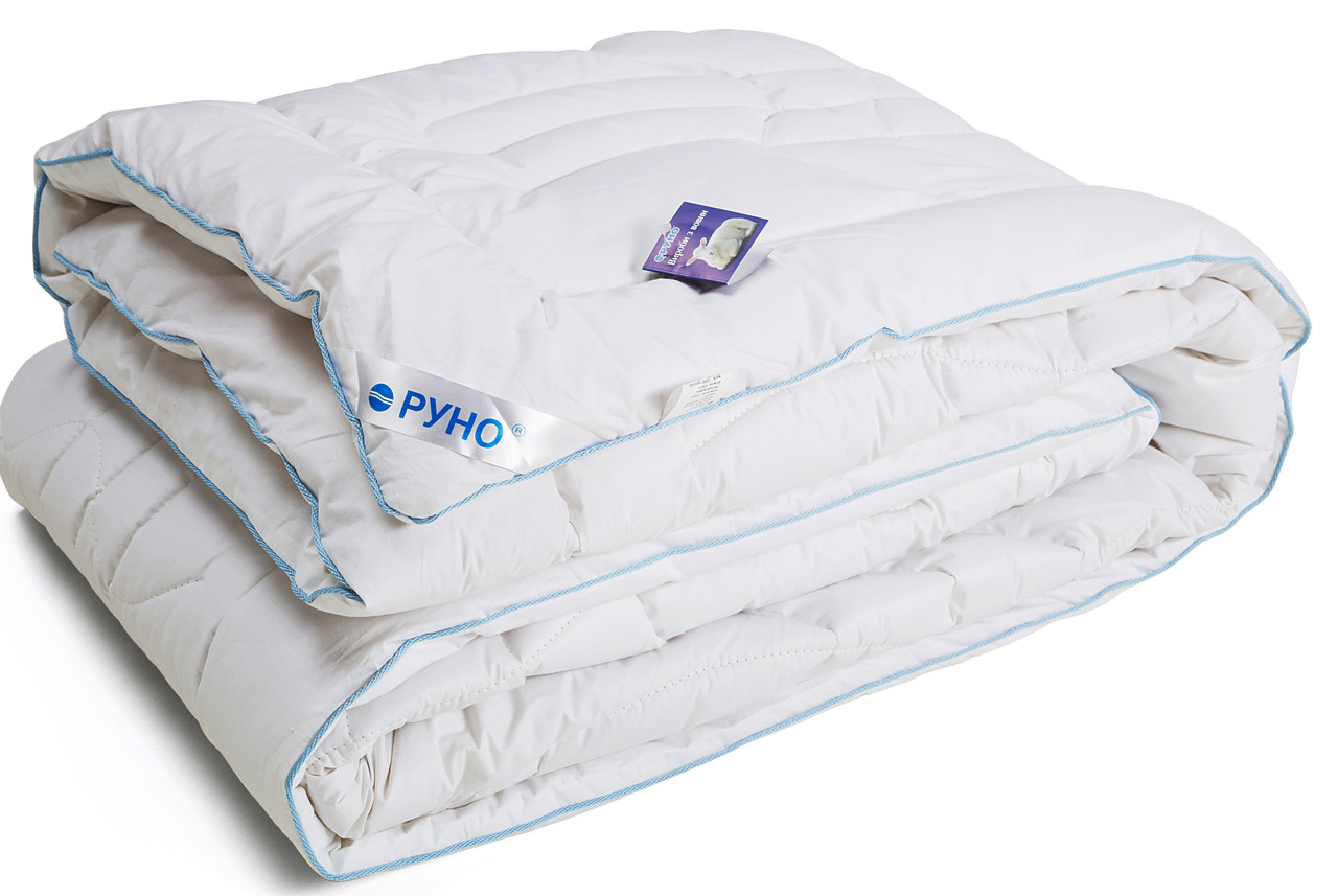 Одеяло Руно шерстяное двуспальное евро Тик Элит 200x220 см 450 г/м2 (322.29ШЕУ)