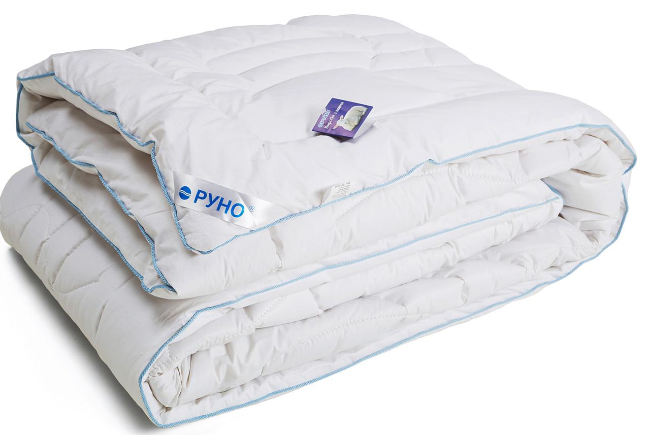 Одеяло шерстяное зимнее 172x205 двуспальное Тик Элит 450 г/м2 316.29ШЕУ_Білий