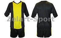 Форма футбольная без номера (черный с желтым)