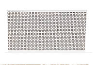 "Панель декоративная перфорированная ""Сити"", из ХДФ 60 см х 120 см х 3,2 мм"