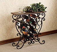 Купить , продам кованую подставку под вино. Изготовим кованые подставки для вина на заказ с доставкой и монтаж