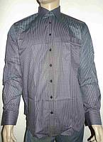 Черная мужская рубашка в клетку, фото 1
