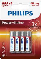 Батарейка Philips Power Alkaline LR3 ААА (блистер, 4/48/864), фото 1