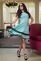 Женское нарядное летнее платье с кружевными вставками