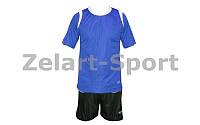 Форма футбольная без номера (сине-черный)