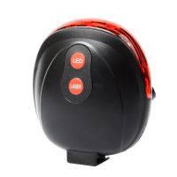 Задний фонарь для велосипеда с лазером  (5-LED + 2-Laser, 8 режимов, 2xAAA)