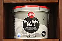 Краска износостойкая Vivacolor Acrylate Matt для влажных и сухих помещений, база А, 9л