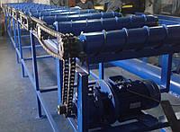 Роликовый транспортер с навивкой, роликовый сбрасывающий конвейер
