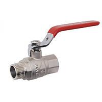 Кран шаровой ручка стальной рычаг HH SD Forte РГШ вода (1009C)