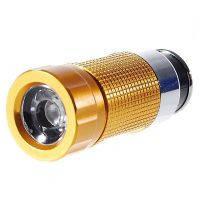 Фонарь светодиодный заряжается от прикуривателя автомобиля (28 люмен), gold