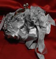 Клатч свадебный,вечерний(серый)