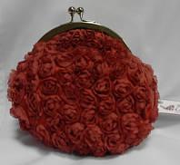 Клатч свадебный,вечерний(кораллово-красный винтаж)