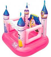 Детский надувной замок 91050 BestWay: 157х147х163 см, дно стойкое ПВХ, 5 кг, 2+ лет, розовый