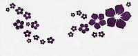 Наклейка виниловая Цветочки фиолетовые 3D декор