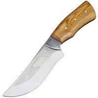 """Нож Спутник """"Барс"""" (длина: 24.8cm, лезвие: 12cm), в кожаных ножнах"""
