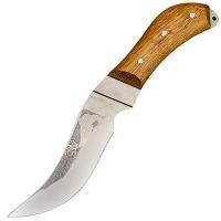 """Нож Спутник """"Пескарь"""" (длина: 21.6cm, лезвие: 10.5cm), в кожаных ножнах"""