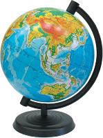 Глобус физический, диаметр 16 см (рус)