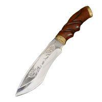 """Нож эксклюзивный Спутник """"Резной Тигр"""" (длина: 30cm, лезвие: 15cm), в кожаных ножнах"""