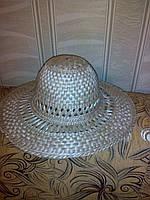 Шляпа (Брыль) соломенная ажурная с ажурными полями (с круглым верхом)