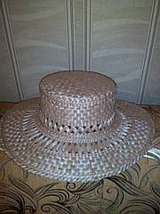 Шляпа соломення плетенная с ровным верхом (Брыль).