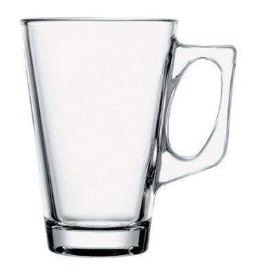 Кружка конус стекло, квадратная ручка 280 мл