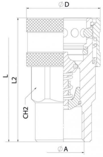 """Соединение быстроразъемное Ду6  G 1/4"""" BSP ISO A 350 bar  female"""
