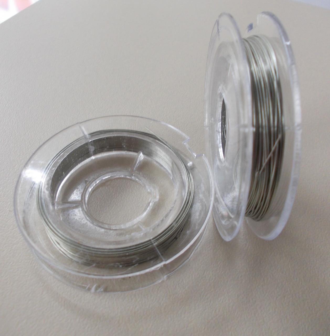 Проволока 0,3 мм, 10 метров (для бисера: серебро)
