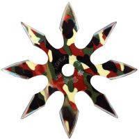 Сюрикен, метательная звездочка восьмиконечная, камуфляжная в чехле