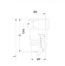 "Швидкороз'ємне з'єднання Ду6 G 1/4"" BSP ISO A 350 bar male"
