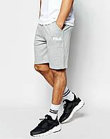 Мужские спортивные шорты  Fila серые