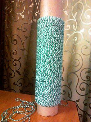Прочная нить для сарделек 410 текс витая с увеличенным содержанием цвета 50 %, фото 2