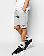 Мужские спортивные шорты  New Balance серые