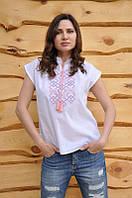 Женская вышиванка с коротким рукавом с воротником стойкой  Ж05-318, фото 1