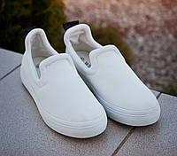 Кеды женские на платформе Weide BN-47-1 белые (стильные, мокасины, женская обувь весна-лето)