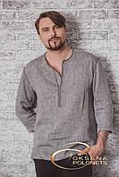 Сорочка чоловіча  з льону cіра