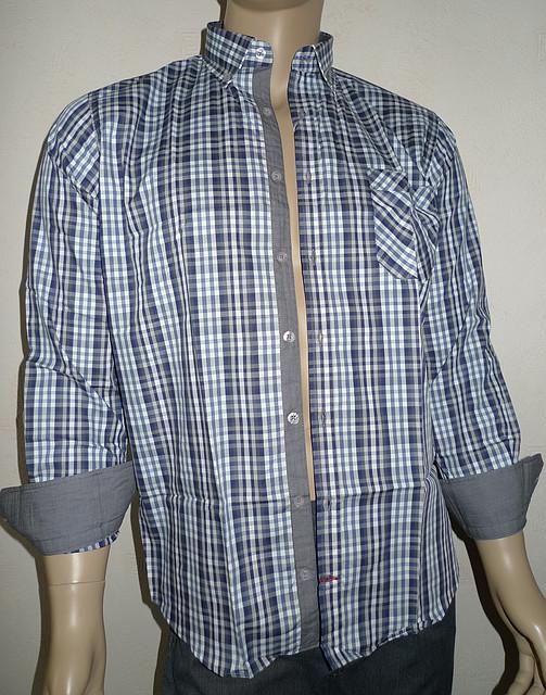 Хлопковая рубашка в серую клетку AYGEN (Турция)