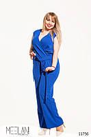 Батальный женский комбинезон с карманами и короткими рукавами