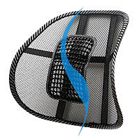 Ортопедическая спинка на стул для поясничной поддержки для дома, офиса, автомобиля, фото 1