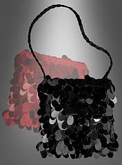 Блестящая черная сумка